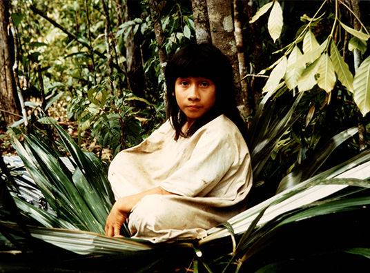 Lacandon Maya Kayum lived in Naha Mexico. He is grandson of Chan Kin viejo the last priest and chief of traditionaly living tribe in Naja